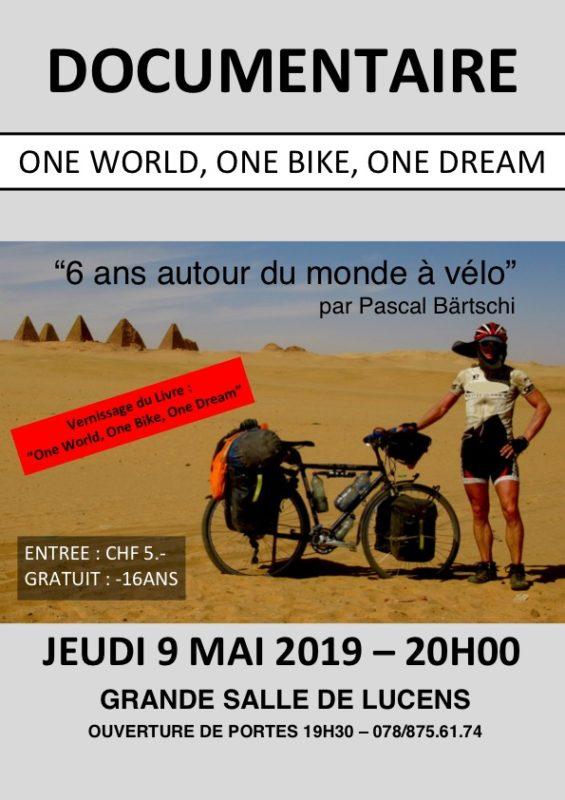 Le tour du monde à vélo de Pascal Bärtschi: avant-première de son film et sortie de son livre