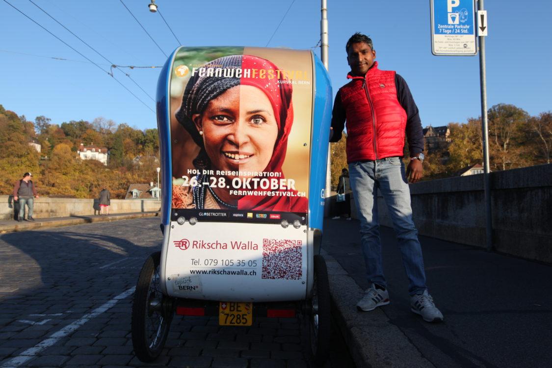 Sohan Lal, rickshaw driver indien à Bern