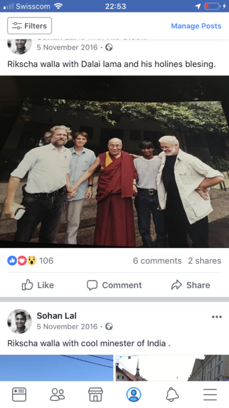 Sohan Lal, rickshaw driver indien à Bern 2